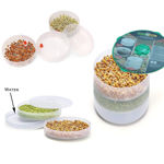 Picture of Plastic Hygienic Sprout Maker Box with 3 Container (Green Color)