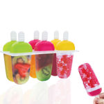 Picture of Plastic Ice Cream Candy Kulfi Maker Popsicle Mould, Set of 6