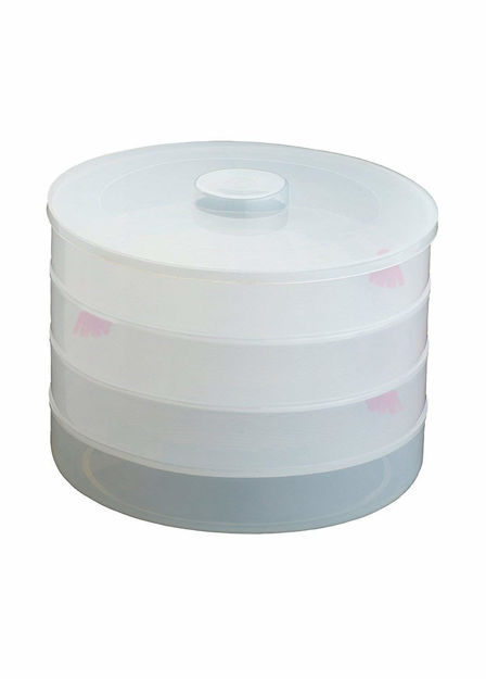 Picture of Plastic Sprout Maker with 4 Container Organic Home Making Fresh Sprouts Beans for 4 Layer Bowl