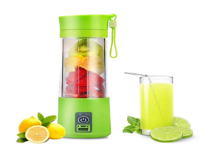 Picture of Portable Electric Mini USB 4 Blade Juicer Bottle for Making Juice and Shake (Random Colour)