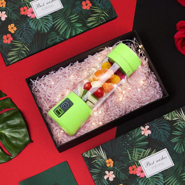 Picture of Portable Electric Mini USB Juicer Bottle for Making Juice & Shake (6 Blade Juicer Bottle)