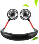 Picture of PortableHands free Neck Hands Free Neck Hanging USB Rechargeable And 360 Degree Rotation Fan For Outdoor Sport Camping Travel Office (Assorted Color)