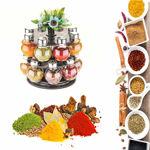 Picture of Premium Multipurpose Revolving Plastic Spice Rack 16 Piece Condiment Set