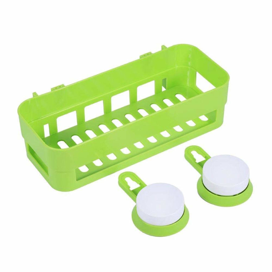 Picture of Rectangle Shelf Rack Basket with Wall Mounted Suction Cup (Multi Colour)