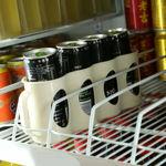 Picture of Refrigerator Organizer Coke Bear Storage Box Four Case Beverage Soda Can Organizer Drink Holder Kitchen Accessories (Assorted Color)