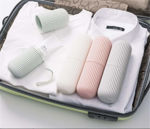 Picture of Round Travel Portable Toothpaste Toothbrush Holder Cover Case for Traveling and Daily Use Toothpaste Storage Box Holder