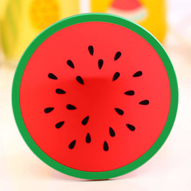 Picture of Silicone Colorful Fruit Coaster for Dining Table (Set of 5)