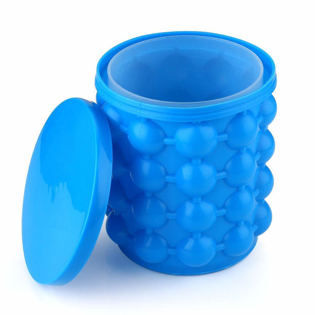 Picture of Silicone Ice Cube Maker | The Innovation Space Saving Ice Cube Maker | Bucket Revolutionary Space Saving Ice Ball Makers for Home, Party and Picnic