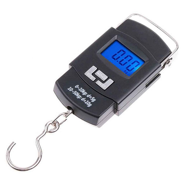 Picture of WH A08 Digital Portable Electronic Weighing Kitchen Scale Machine Upto 50 kg with LCD Display (Assorted Color)