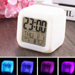 Picture of Smart Digital Alarm Clock for Automatic 7 Colour Changing LED Digital Alarm Clock with Date, Time, Temperature for Office and Bedroom