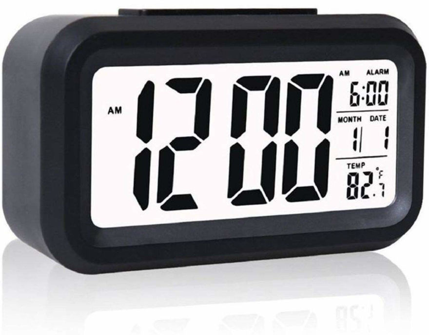 Picture of Smart Digital Alarm Table Battery Operated Clock with Automatic Sensor Date & Temperature (Random Color)