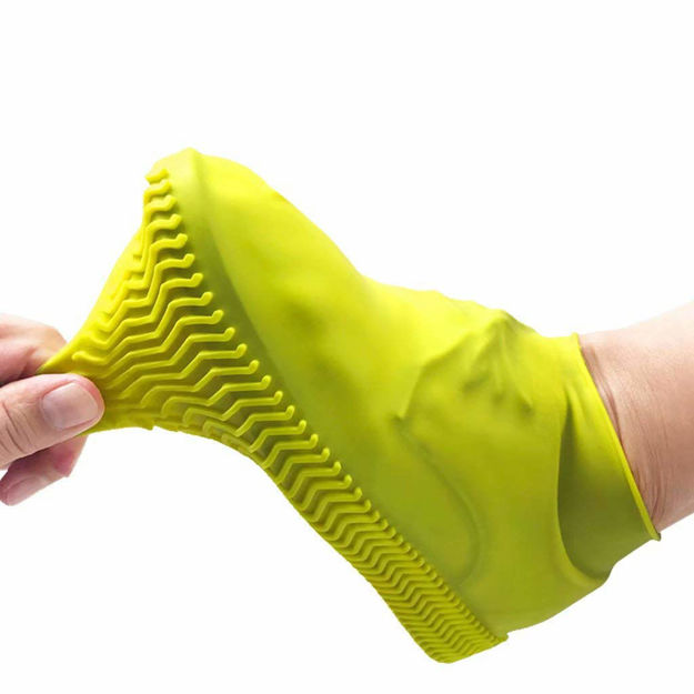 Picture of Waterproof Silicone Shoes Covers and Reusable Rain Boots for Cycling,Outdoor,Camping,Fishing,Garden,Shoe Covers
