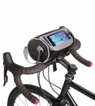 Picture of Waterproof Bicycle Mobile Pouch Holder with Removable Shoulder Strap for Riding Travel Outdoor Activities GPS Navigation