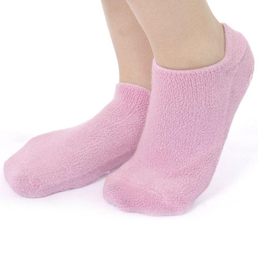 Picture of Ultra Soft Moisturizing Socks with Spa Gel Vitamin E and Oil Infuse for Repair Dry Cracked Skins (Assorted Color)