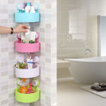 Picture of Triangle Shelf Rack Organizers for Bathroom and Kitchen with Wall Suction Cup (Assorted Color)