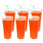 Picture of Transparent Unbreakable Poly Carbonate Stylish Soft Drink Glass   Set of 6 Pcs