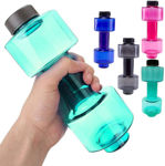 Picture of Stylish Plastic Dumbbell Sports Bottle, Fitness Gym Water Bottle