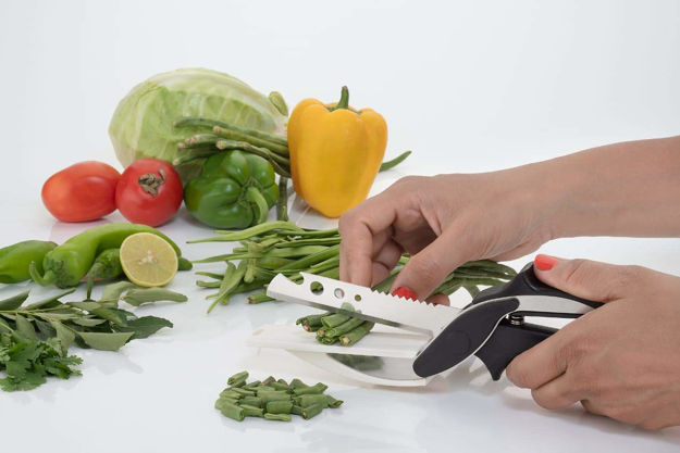 Picture of Stainless Steel Vegetables Smart Scissor Cutter Knife for Kitchen