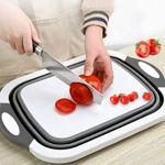 Picture of 4 in 1 Multifunctional Siicon Based Kitchen Foldable Chopping & Cutting Board