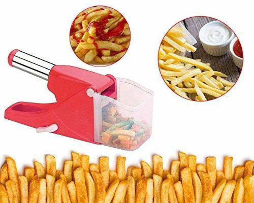 Picture of Home French Fries Potato Chips Strip Cutting Cutter Machine Maker Slicer Chopper Dicer(Assorted Color)