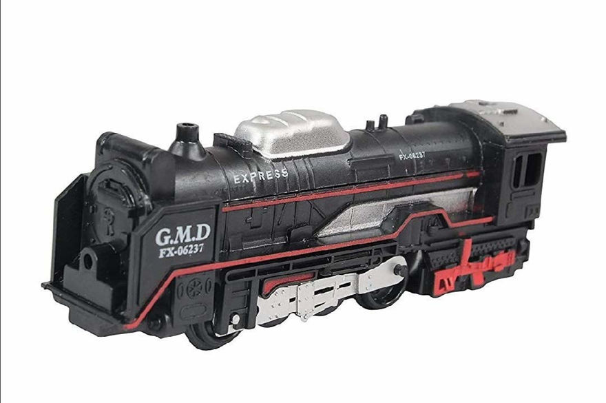 Battery Operated Black Train Toy Set for Kids, Big Size Train Set for Kids | Bump and Go Musical Toy Train