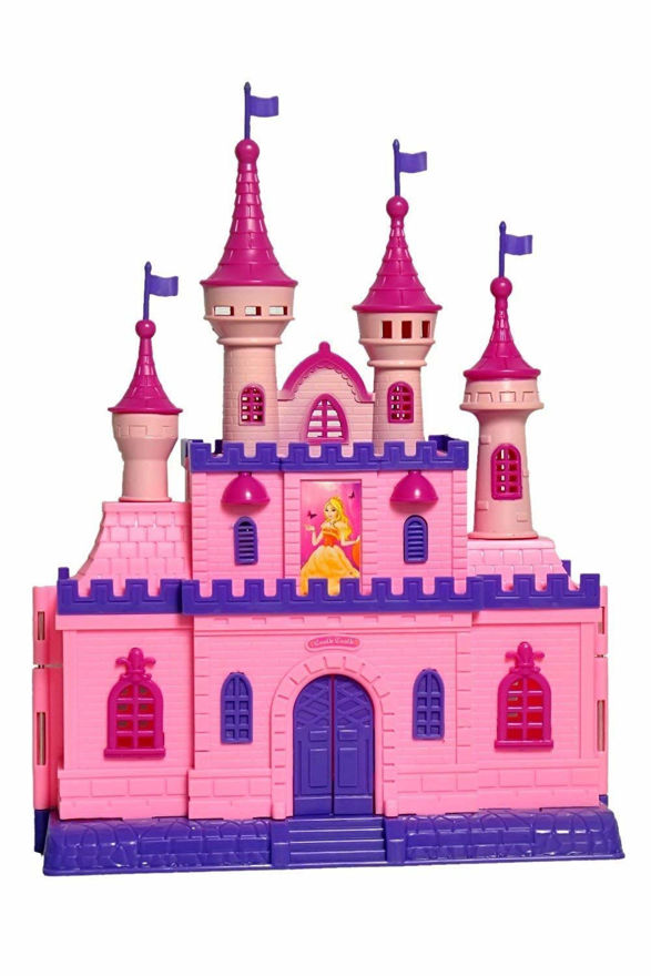 Big size castle doll house with light and musical accessories- Multi color