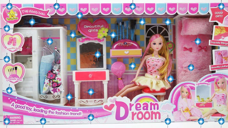 Big Size My Dream Room Doll House Creative Doll House with Doll Beauty Play Set for Girls (Multicolour)