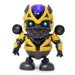 Bump and Go Musical Dancing Hero Robot Toy with 3D Lights & Sound Battery Operated Toy for Kids Baby Electric Toys