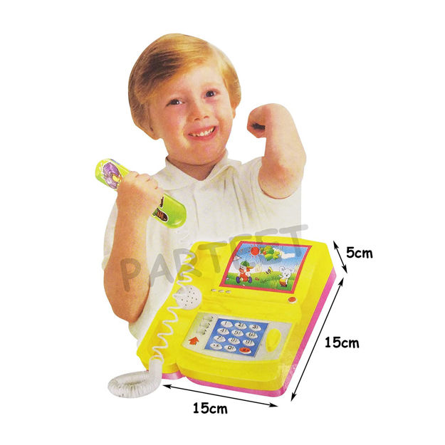 Cartoon Phone Telephone Music Toy Kids Battery Operated