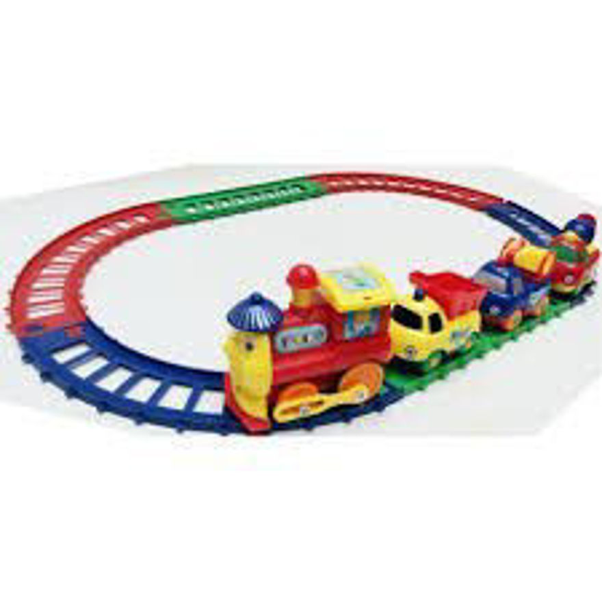 Cartoon Series Play Train Toy for Kids ( Toy for 3+ Years Old Boys and Girls )- Multi Color