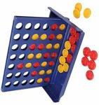 Connect 4 Game Classic Master Foldable Kids Children Line Up Row Board Puzzle Toys Gifts Board Game Educational Math Fun Toy
