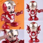 Dancing Iron Man Dance Hero Toys Dancing Robot with Light Music Dancing Action Figure w/ Openable Iron Man Mask , Lights & Music Interactive Toy for Boy Girls Kids Children Gift (Iron Man)