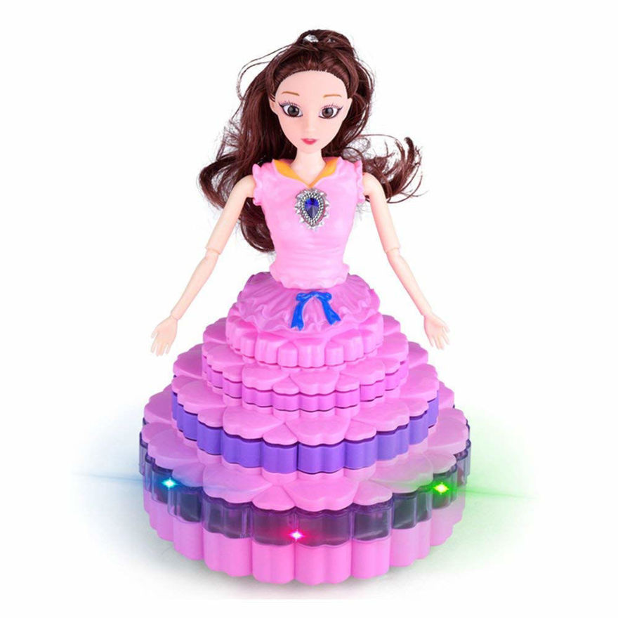 Dancing Princess Doll 360 Rotation with 3D Lights and Music | Birthday Gift for Girls