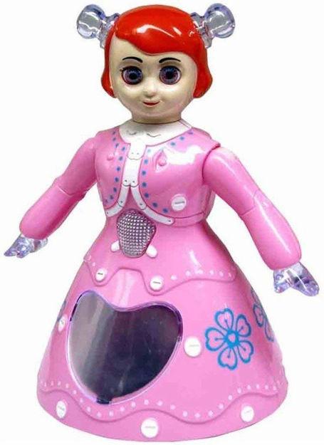 Dancing Princess Girl/ Dancing Princess Barbie Girl Robot with 3D Musical Light Doll/ 3D Dancing Princess Doll Musical Toy Gift for Kids Doll ToyPink