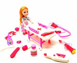 Doctor Kit Toys for Kids - Pretend Play Medical Set for Girls with Stretcher and Doll | Role Play Toys for Children - Multi Color