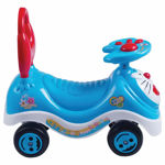 Doremon Cartoon Rider Ride-on Toy with Music, Kids Ride on Mini Ride on Toy Blue