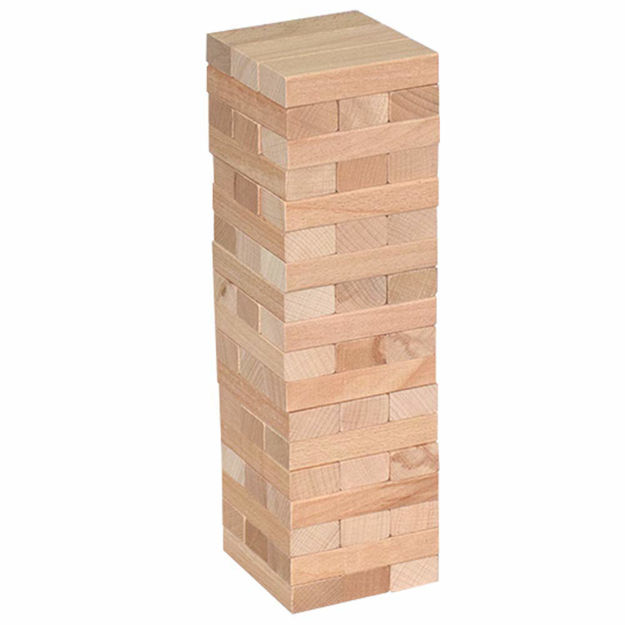 Giant Tumble Tower, 54 PCS Pine Wooden Stacking Timber Game with 1 Dice Set - Classic Block Board Game for Kids Adults Family