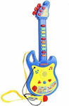 Guitar Toy with Microphone Battery Operated Learning Kids Toy, Full Decorate with Colours