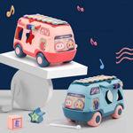 Hai Hai Bus Collection of Toddler Basic Toys for Kids Ball Roll Ball Shapes sorters for Children