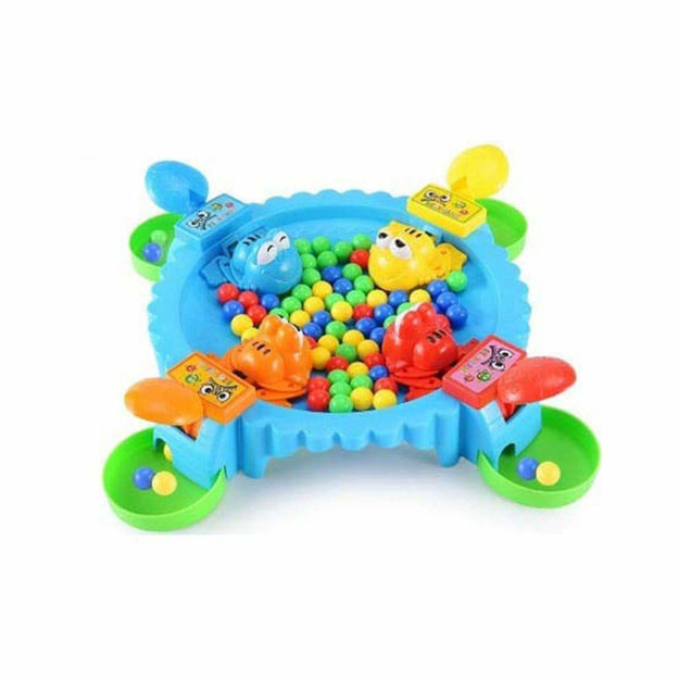 Hungry Frog Eating Beans Games Family Party Parent-Child Interactive Game Toy- of Quick Reflexes -4 Player Classic Board Games Fun, Includes All Pieces Needed to Play -Frog Toy for Kids 3 Years