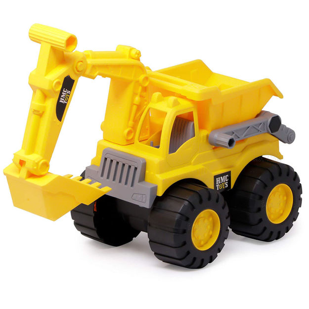 JCB Dig & Dump Construction Toy, Construction Truck Toy for Kids - Yellow