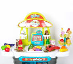 Kids Role Pretend Playset Big Size Supermarket kit for Kids Toys with Shopping Cart and Sound Effects Kitchen Set Kids Toys for Boys and Girls (Little Shopping Supermarket)