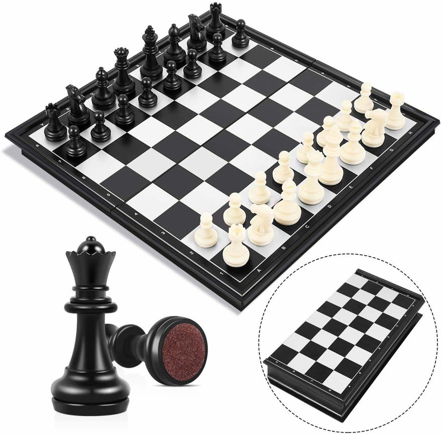 Magnetic Travel Chess Set with Folding Chess Board Educational Toys for Kids and Adults || Chess Board with Folding Design / Indoor Outdoor Educational Travel Toys.