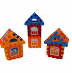 Multi Colored 72 Pcs Mega Jumbo Happy Home House Building Blocks with Attractive Windows and Smooth Rounded Edges - Building Blocks for Kids (72 Blocks) - Blocks Game