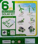 Original (robot kits) 6 in 1 solar power learning educational kit toy boat fan car robot for kids (Multi color)