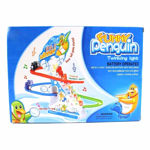 Penguin Twinkling Track Set Race Track Series with Music Light for Kids-Multicolour