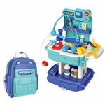 Pretend Play, Portable Suitcase Shape, Doctor Set,Medical Kit with Light and 31 pcs Accessories.for Kids(Baby Boys and Girls).
