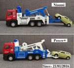 Pull Back Metal Tow Crane Truck Toy for Kids, Friction Power Vehicle Toy for 3+ Year Boys and Girls, Light and Sound Toy for Kids with Diecast Car-Multicolor