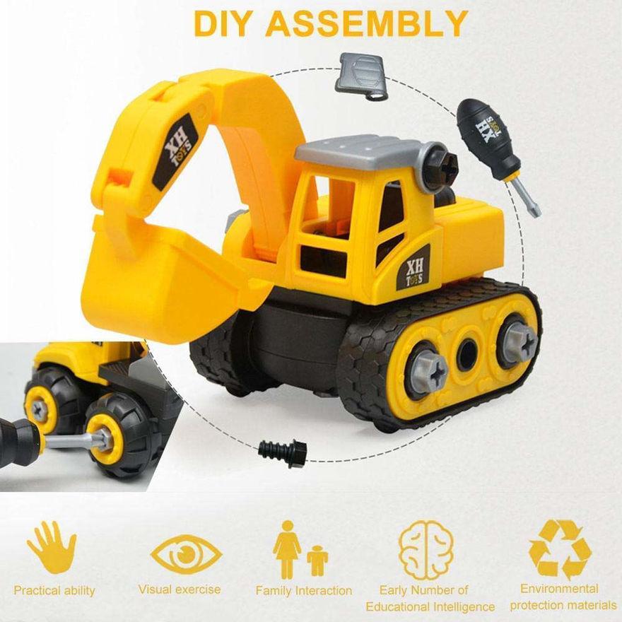 Unbreakable JCB & Bulldozer Construction Engineering Toy Vehicle