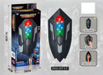Wakanda Shield Captain America with Expandable Feature, Sound and Light Effects for Kids- Multi Color